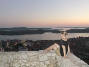 Sonnenuntergang über Sibenik