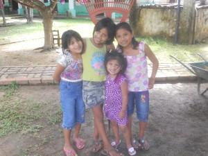 Las chicas v.l.n.r:  Diane, Lizeth, Yan Carla, Carmen