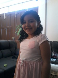 Valentina bei der Familiengeburtstagsfeier