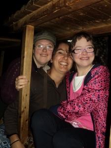 von links: Anna, ich und Szilvia