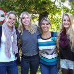 von links: Lisa, Tamara, ich und Magdalena