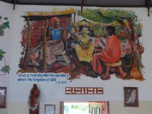 Eine der Wandbemalungen in unserer Kirche