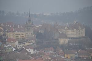 Blick auf Segesvár