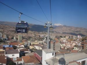 Seilbahnfahren in La Paz