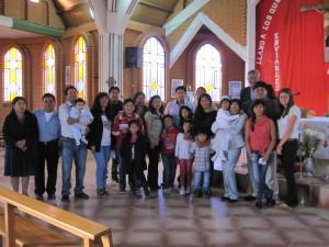 Meine Gastfamilie bei der Taufe einer Cousine.