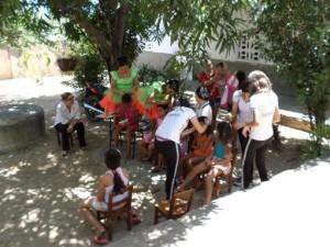 beim Fest zum dia da criança in der Creche Santa Terezinha