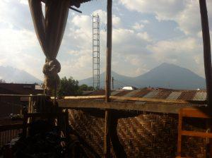 Blick auf die Vulkane von Musanze